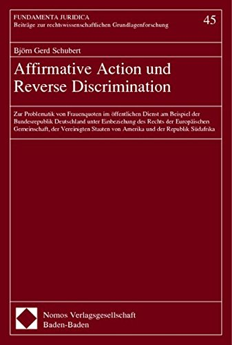 Affirmative Action und Reverse Discrimination: Bj�rn Gerd Schubert