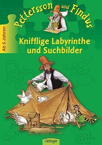 9783789117565: Pettersson und Findus. Knifflige Labyrinthe und Suchbilder: Spielend leicht lernen. Beschäftigungsheft
