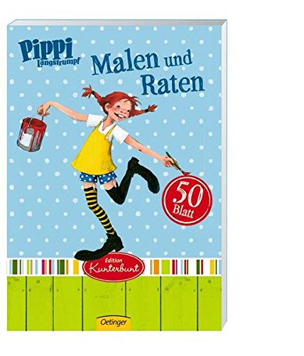 9783789175572: Pippi Langstrumpf Malblock Malen und Raten
