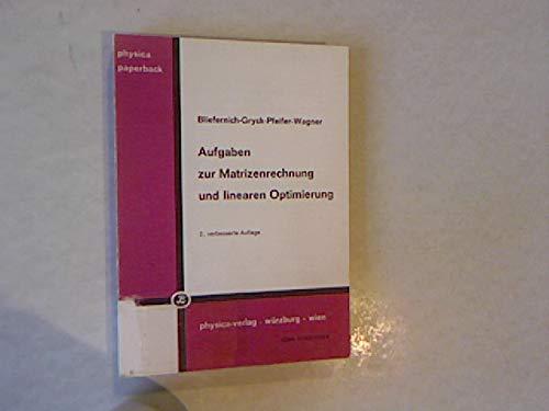 9783790801538: Aufgaben Zur Matrizenrechnung Und Linea