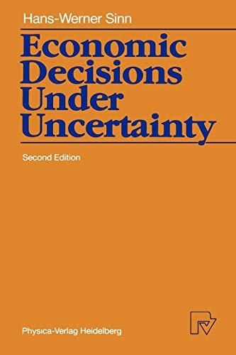 9783790804362: Economic Decisions Under Uncertainty