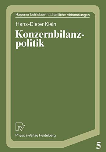 Konzernbilanzpolitik: Hans-Dieter Klein