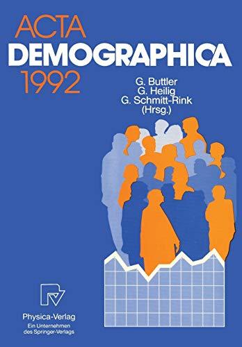 ACTA Demographica 1992: Gerhard Heilig