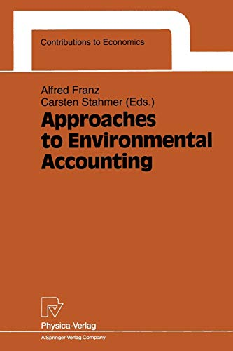 Approaches to Environmental Accounting: Proceedings of the Iariw Conference on Environmental ...