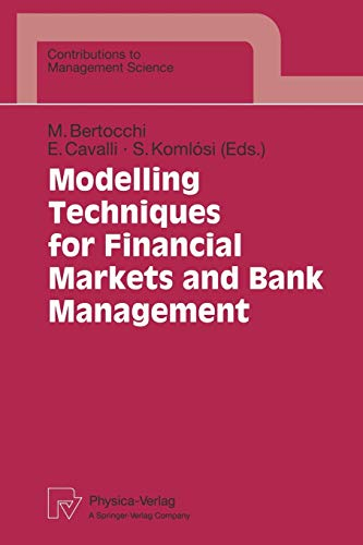 9783790809282: Modelling Techniques for Financial Markets and Bank Management (Contributions to Management Science)