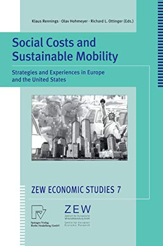 SOCIAL COSTS AND SUSTAINABLE MOBILITY: STRATEGIES AND: KLAUS RENNINGS ET.AL