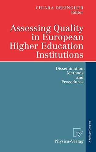 9783790816594: Assessing Quality in European Higher Education Institutions: Dissemination, Methods and Procedures
