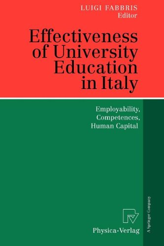 9783790822557: Effectiveness of University Education in Italy