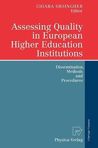 9783790825268: Assessing Quality in European Higher Education Institutions: Dissemination, Methods and Procedures