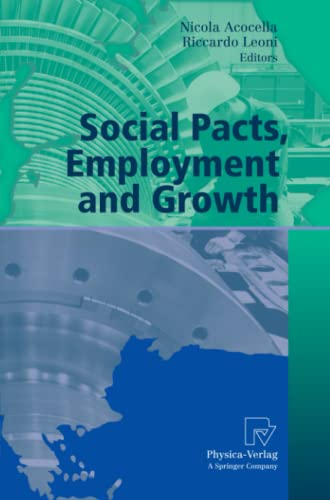 9783790825329: Social Pacts, Employment and Growth: A Reappraisal of Ezio Tarantelli's Thought (AIEL Series in Labour Economics)