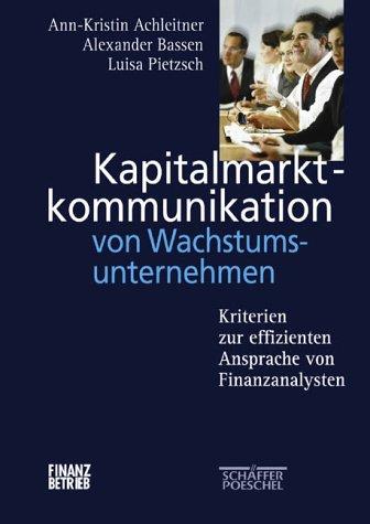 9783791020006: Bewertung der Kapitalmarktkommunikation von Wachstumsunternehmen