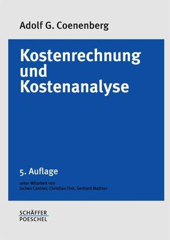 9783791021874: Kostenrechnung und Kostenanalyse
