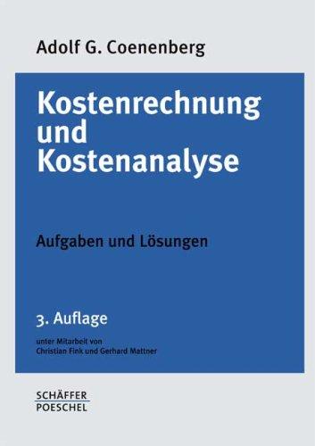 9783791021881: Kostenrechnung und Kostenanalyse, Aufgaben und Lösungen