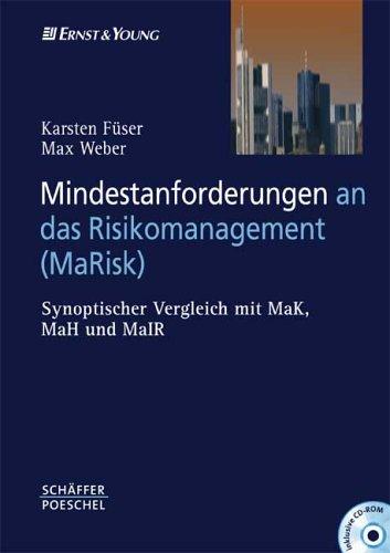 9783791024684: Mindestanforderungen an das Risikomanagement (MaRisk). Mit CD-ROM. Synoptischer Vergleich mit MaK, MaH und MaIR