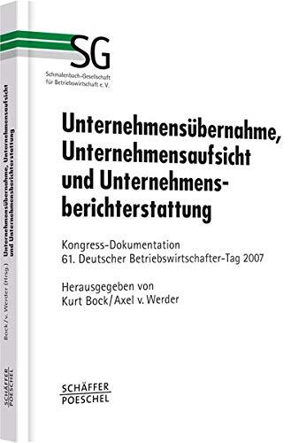 Unternehmensübernahme, Unternehmensaufsicht und Unternehmensberichterstattung: Kurt Bock