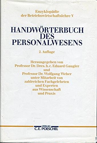 9783791080314: Handwörterbuch des Personalwesens
