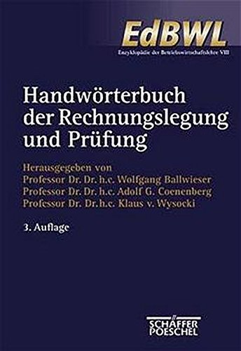 9783791080468: Handwörterbuch der Rechnungslegung und Prüfung.