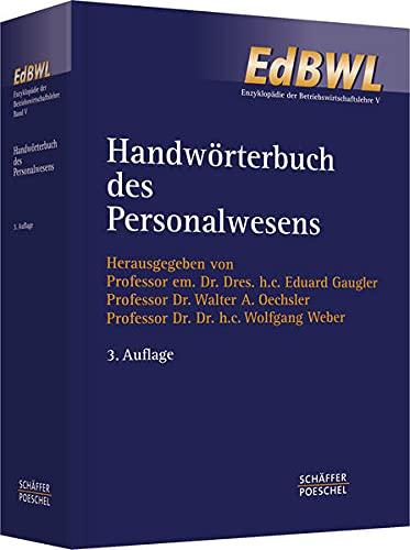 Handwörterbuch des Personalwesens: Eduard Gaugler