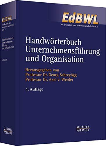 Handwörterbuch der Organisation: Erich Frese