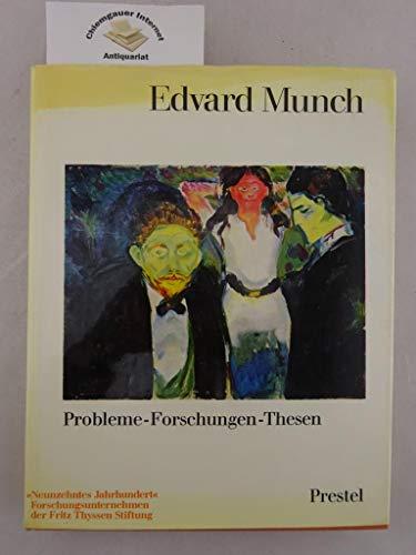 9783791300344: Edvard Munch. Probleme, Forschungen, Thesen