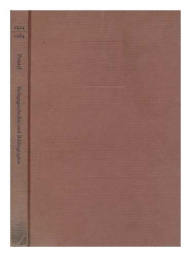 1924/1984 Prestel Verlag Verlagsgeschichte und Bibliographie: Stresow, Gustav and Katharina ...