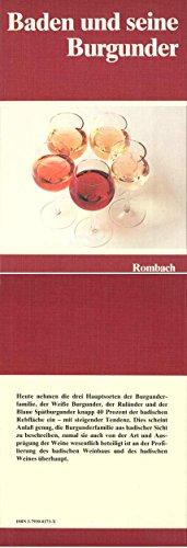 9783793002734: Baden und seine Burgunder (German Edition)