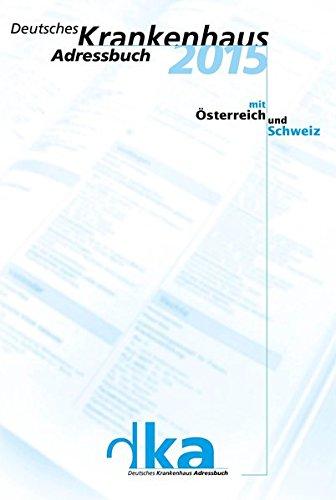 9783793008583: Deutsches Krankenhaus Adressbuch 2015