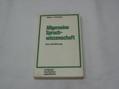 9783793009689: Allgemeine Sprachwissenschaft - Eine Einführung