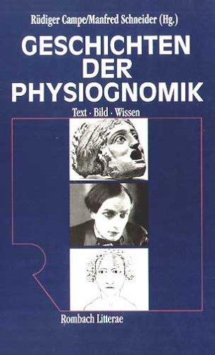 9783793091172: Geschichten der Physiognomik: Text, Bild, Wissen (Rombach Wissenschaft) (German Edition)
