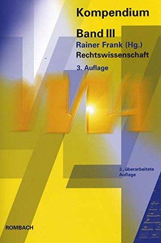 VWA Kompendium 3. Rechtswissenschaft: Rainer Frank