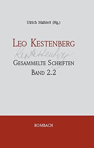 Leo Kestenberg Gesammelte Schriften Leo Kestenberg - Gesammelte Schriften - Band 2.2: Ulrich ...