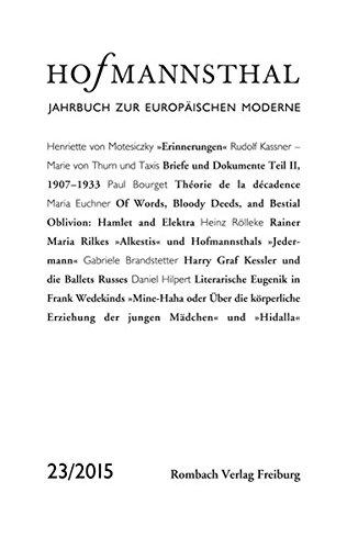 Hofmannsthal Jahrbuch zur Europäischen Moderne Band 23 /2015: Maximilian Bergengruen