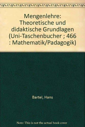 9783794026425: Mengenlehre.. Theoretische und didaktische Grundlagen.