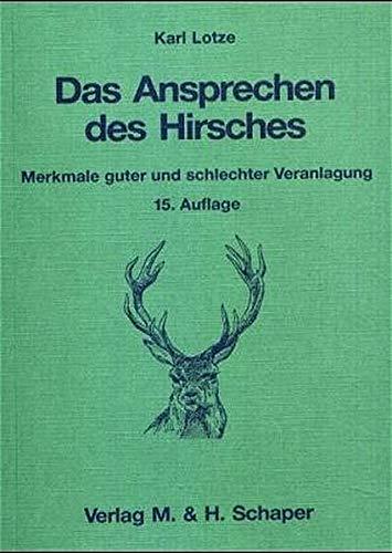 9783794400317: Das Ansprechen des Hirsches