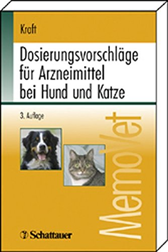 9783794522781: Dosierungsvorschläge für Arzneimittel bei Hund und Katze: MemoVet