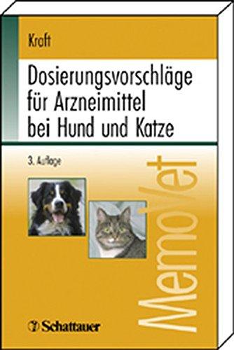9783794522781: Dosierungsvorschläge für Arzneimittel bei Hund und Katze.