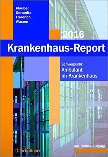 Krankenhaus-Report 2016: Jürgen Klauber