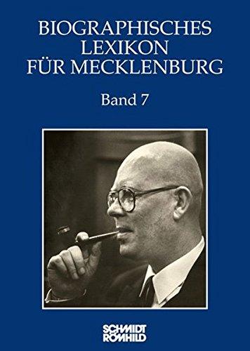 9783795037529: Biographisches Lexikon f�r Mecklenburg Band 7