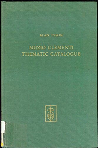 9783795200879: Thematic Catalogue of the works of Muzio Clementi