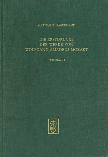 9783795204211: Die Erstdrucke der Werke von Wolfgang Amadeus Mozart