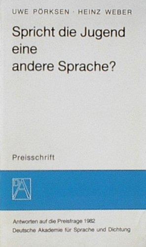 9783795302733: Spricht die Jugend eine andere Sprache? (German Edition)