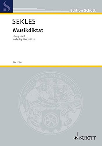 9783795705510: MUSIC DICTATION EXERCISES ALL KEYS MUSIKDIKTAT