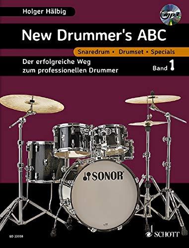 New Drummer's ABC. Band 1. Schlagzeug. Lehrbuch: Hälbig, Holger