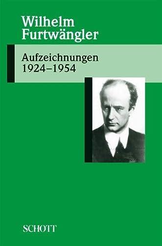 9783795706630: Aufzeichnungen 1924-1954