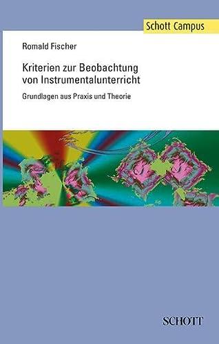 KRITERIEN ZUR BEOBACHTUNG VON INSTRUMENT (Paperback): Romald Fischer