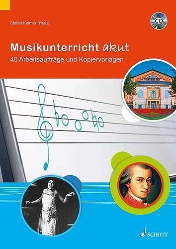 9783795708733: Musikunterricht akut: 40 Arbeitsauftr�ge und Kopiervorlagen. Lehrerband mit CD
