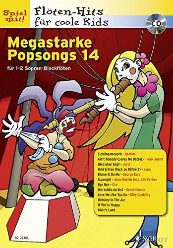 9783795709266: Megastarke Popsongs Band 14. Ausgabe mit CD: 1-2 Sopran-Blockflöten