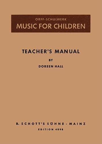 9783795726300: MUSIC FOR CHILDREN TEACHERS MANUAL