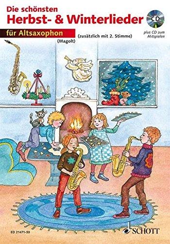 9783795747251: Die sch�nsten Herbst- und Winterlieder: 1-2 Alt-Saxophone in Es. Ausgabe mit CD