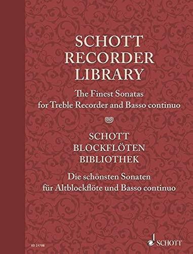 9783795748951: Schott Recorder Library: Sonatas For Treble Recorder/Basso Continuo Sc+Pts